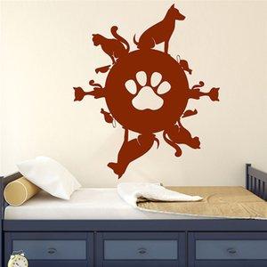 Pet Planet Wall Decal Vinyl Window Sticker Animal Pets Shop Interior Decoration Cat Dog Birds stickers for boys bedroom Decor