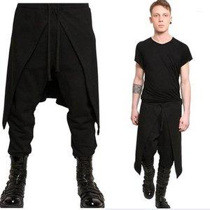 Hommes Casual sarouel hommes Drapé Sarouel entrejambe bas Hip Hop pantalons baggy Pantalons de danse gothique Style Punk 2020 Taille Plus