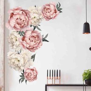 Şakayık Gül Çiçek Duvar Sticker Sanat Anaokulu Çıkartmaları Çocuk Odası Ev Dekorasyonu Hediye Duvar Çıkartmaları voor kinderen kamers çıkartmaları