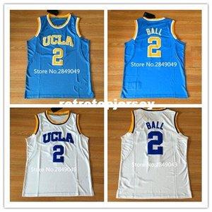 Последний # 2 Lonzo Ball UCLA Bruins College Баскетбол Джерси сшитые S-2XL жилет майки Ncaa