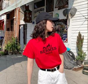 Dalga Çizgili Baskı Womens Tasarım Tişörtler Streetwear Paris Aşıklar Yaz Mürettebat Boyun Tshirts Marka Gençler Kısa Kollu T-Shirts