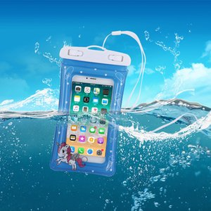 2926 Floating Air Bag Waterproof Cellphone Bag Touch Screen Swimming Transparent Inflatable Waterproof Mobile Phone Bag Camera W
