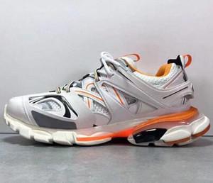 Vendita poco costosa pista Parigi Triple S 3.0 Grigio Arancione Giallo pattini casuali della piattaforma delle scarpe da tennis Tess S. Gomma Trek Mens Trainers Size 35-45