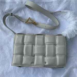 diyagonal kareli yastık dokuma omuz çantası womens lüks tasarımcı çanta 2020 basit küçük kare paket kaset sünger çanta deri çanta