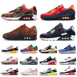 nike air max 90 airmax 90s classic мужчины кроссовки кроссовки Chaussures Premium Camo Mixtape мужские кроссовки Спортивные кроссовки