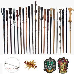 Etiqueta Metal Core Potters varinhas mágicas Cosplay Ron Voldemort Hermione mágico Wand Harried pano como Bonus sem Box