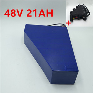48V 20Ah Dreieck Batterie 48V 1000W 2000W elektrische Fahrrad-Batterie 48V 20Ah Lithium-Batterie mit Tasche + 54.6V 5A Ladegerät