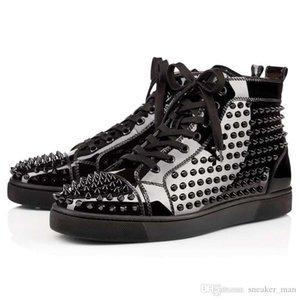 xshfbcl 2020 novas partes inferiores vermelhas sapatos para homens mulheres sapatos de grife pico plataforma de couro camurça vermelha sapatilhas ocasionais fundo de moda de luxo