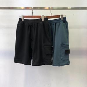 Amerikan üst malzemesi plaj şort mens Retro spor pantolon pamuk mavi kısa logosu kravat nakış yaz sokak patlamalar beş pantolon