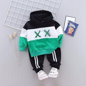 Spring Autumn Children Cotton Clothing Suit Baby Boys Girls Clothes Kids Sport Hoodies Pants 2Pcs Sets Fahion Toddler Tracksuits