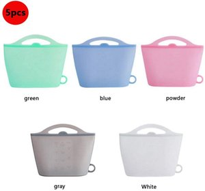 wholesale Silicone Food Storage Bags Kitchen Household Reusable Bags Fresh-keeping Bag For Food Storage