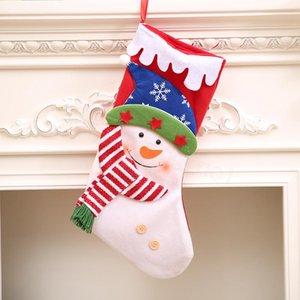 Renkli Noel çorap Dekor Süsleme Parti ağacı Dekor Santa Noel Şeker Çorap Çanta Noel hediyeleri Çanta asılı kolye FFA3123