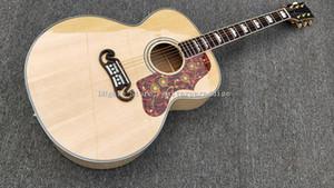 43 بوصة جمبو برميل الغيتار الصوتية، أعلى شجرة التنوب، الأصابع خشب الورد، 301EQ الغيتار الكهربائي