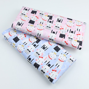 DIY Sewing Handmade Quilting Patchwork Cloth Tilda Baby Dress Home Textile Material Tecido Tissus Cute Cat Strs Cotton Fabric
