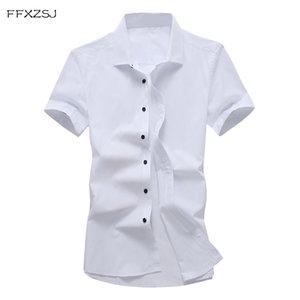 marque FFXZSJ FFXZSJ. Chemise à manches courtes de style décontracté hommes d'été nouveau T200505 chemise couleur pure