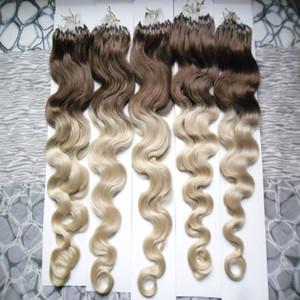 شعر الجسم موجة مايكرو حلقة الشعر 100G 1G / حبلا 100 ٪ الانسان الشعر التمديد 100s / pack ملحقات مايكرو الخرزة الشعر