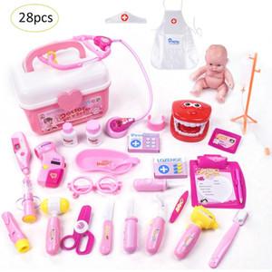 28 Adet Çocuk Oyuncakları Doktor Set Bebek Valizler Tıbbi Kiti Oyun Evi Bulmaca Simüle Tıbbi Kutusu Hemşire Doktor Giysi Bebek oyuncak