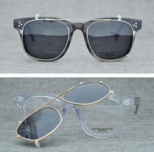 placa novíssimo Oliver Eyewear Sunglasses Women / Men Designer Óculos Clip On Óculos de Sol Pequeno Metal Frame Oculos De Sol Gafas