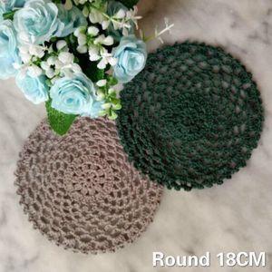 18cm Yuvarlak Vintage Crochet Doily Noel Placemat Mantel Bireysel Masa Mat Kahve Kupa Düğün Ev Mutfak
