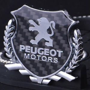 Peugeot Responsabile 406 3008 308 508 607 505 407 Grand Raid auto in fibra di carbonio della lega del metallo distintivo dell'emblema del tronco Fender porta Sticker Decal