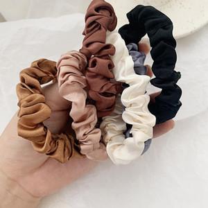 Barato muchacha de las mujeres de terciopelo elástico del pelo de Scrunchie Scrunchy Hairbands de la venda principal del sostenedor del Ponytail de chicas bandas del pelo del niño cintas para el pelo Accesorios