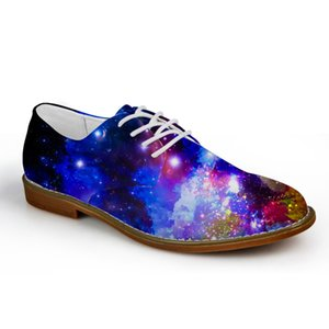 Customized beiläufige Mens-Flats, Galaxy Star Men Oxford-flache Schuhe, Puzzle Art-Qualitäts-Frühlings-Sommer-Lace-up Wohnung Shose
