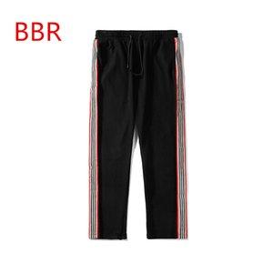 2020 дизайнерские новые мужские брюки BBR роскошные свободные спортивные брюки с завязками повседневные девять очков спортивные брюки Европа и Америка
