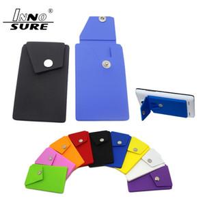 2020 новый сотовый телефон бумажник силиконовый клей Stick-on бумажник чехол для кредитной карты ультра-тонкий Id держатель бумажник чехол рукав карман смартфон