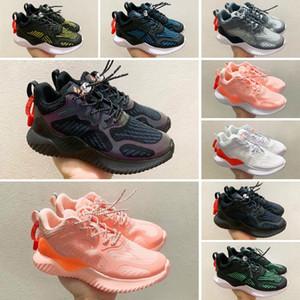 Adidas AlphaBounce Дети кроссовки для мальчиков для девочек Спорта Детей Chaussures подростковых Толстые Soled юношеских спортивной обуви Открытого EUR26-35