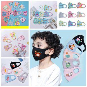 Crianças bebê Máscaras impressos Rapazes Meninas dos desenhos animados da cara Boca Máscaras Crianças macio respirável Earloop exterior poeira Máscara FFA4029 1200pcs