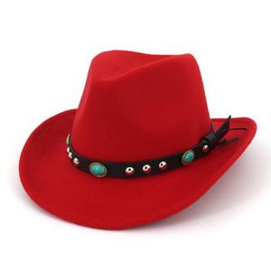 Bull Rider Jazz Fedora Sunhat Men Women Felt Hat Western Cowboy Hat Black 6 Colors Trilby Baller Hat for Unisex