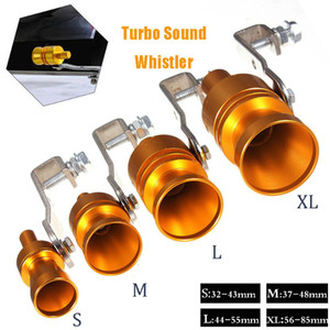 xhaust Systems Mufflers Gold Motorbike Blow Off Turbo Whistle Exhaust Muffler Pipe Aluminum Simulator Sound Pipe Car Motorcycle S M L XL...