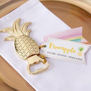 Favores do casamento Presentes Garrafa do metal do ouro abacaxi cerveja abridor Decoração Fontes do partido ouro Ananas Bottle Lid Opener gratuito DHL
