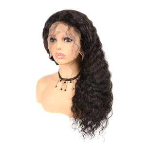 Перуанский рыхлый глубокий парик человеческих волос 13 * 4 парик шнурка передний с ребенком волос Нет Пролить Natural Color