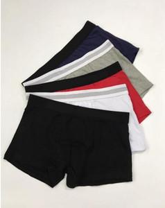 Mens Letras pugilistas Black White Grey Algodão respirável Cueca homens sexy shorts com impressão