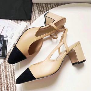 designer classique de la version la plus haute slingbacks en cuir véritable PUMP dames chaussures à talons hauts sandales pour femmes 1.5 / 6.5 / 9.5CM HEEL