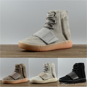ssYEzZYYEzZYs v2 350boost 2018 750 Light Grey Glow In The Dark Kanye West Leather Men And Women Sport Running Shoes Free