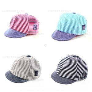 Star stripe cap soft eaves male and female baby sun Star pattern children's hat soft Eaves C men Women Bay hat infant children's cap