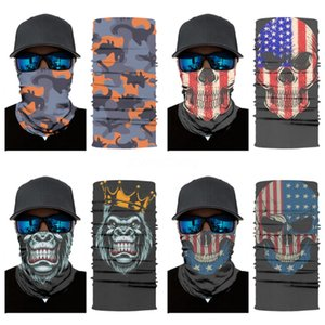 Outdoor Usa Flag Magic Headskull Scarf Bandana Cycling Masks Head Neck Scarves Windproof Sport Face Mask With Filter Designer Printed Mas#766