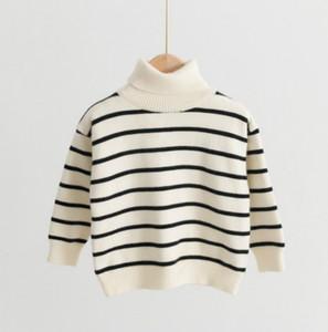 2020Kids дизайнерские свитера Детская мода полосатый печатный пуловер свитер 2020 новый Arrial ребенок мальчики девочки повседневная экипаж водолазка свитер