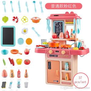 27pcs / set 37pcs / set43pcs / Kinder Küche Spielzeug Kochen Spielzeug für Kinder Spielzeug Pretend Play With Light Soundeffekt Lustige Haus Miniatur-Set