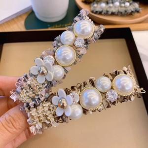 Mujeres Carta horquilla Diseñador Clip Perla Tela Barrettes regalo para el amor de la novia de moda del pelo accesorios de alta calidad