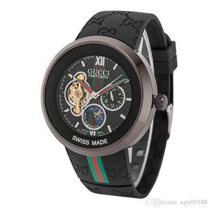 El reloj mecánico de la manera ocasional para hombre Tourbillon automático de los hombres de las mujeres del vestido hueco Relojes de cuerda automática masculina de lujo Relogio Masculino