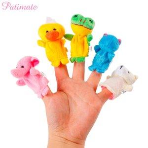 PATIMATE 10 шт. мультфильм животных палец куклы день рождения пользу дети Baby Shower день рождения украшения дети подарок