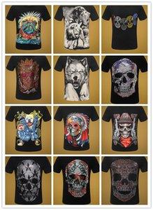 힙합 3D PP 남성 T 셔츠 두개골 마녀의 패션 편지 짧은 소매 티셔츠를 캐주얼 남자 t- 셔츠 여름 체육관 크루 넥 T 셔츠 탑스