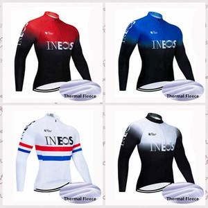 squadra INEOS Ciclismo inverno del panno morbido termico maglia a maniche lunghe 2020 sportivo outdoor bici Tops usura della bicicletta vestiti C623-20