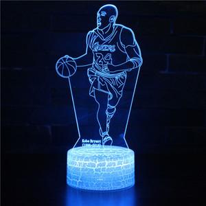 Basketbol Ünlü Yıldız Akrilik 3D Hayranları Renk Boys Hediyeler Magic Gece Işığı Değiştirme için Night Light LED