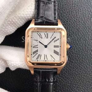 Nuevo Mejor Serie de Calidad estilo de cuarzo hombres del reloj de oro de las mujeres zafiro Esfera de cristal clásico reloj de pulsera correa de cuero elegante reloj 1726
