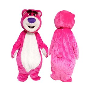 New Pink Bear mascot costume Character Costume Fancy party Dress Cute Dolls mascotte Outfits