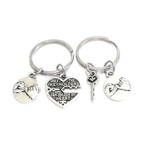 Lock & Key Hand-held Key Chain Parent-child Family To keychain Friendship Agreement Sisters Keychain Couple Keychain